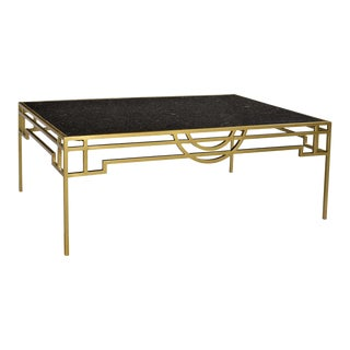 Black Marble Coffee Table For Sale