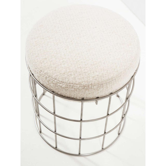 Thomas Stainless Steel Stool For Sale In New York - Image 6 of 6