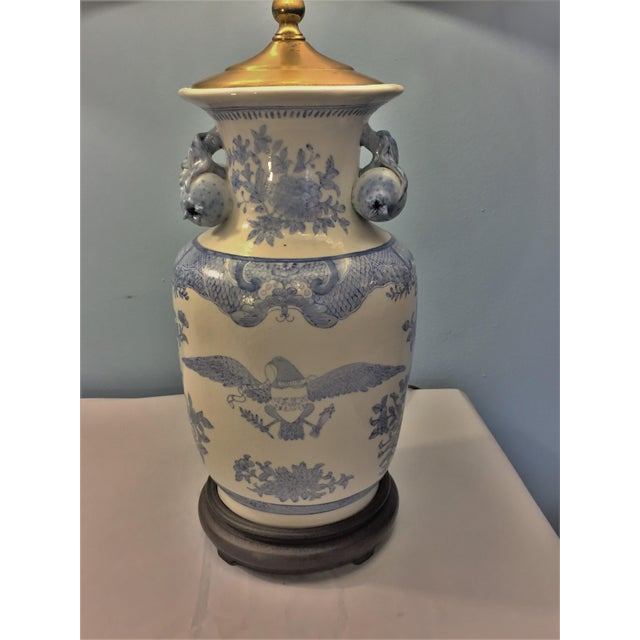 Companionable Chinese Export Style Porcelain Lamps - a Pair - Image 4 of 9