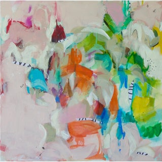 """Gina Cochran """"Once Spoken"""" Abstract Original Mixed Media Painting For Sale"""