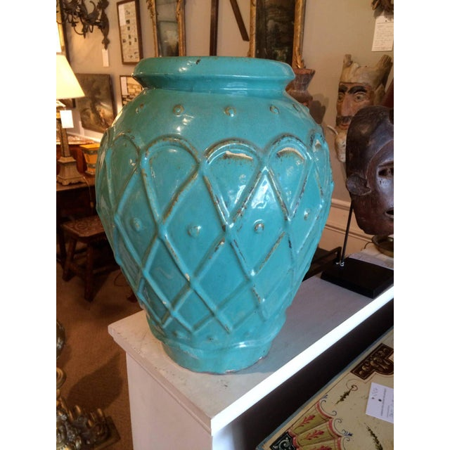 Turquoise Glaze Jar by Galloway For Sale - Image 9 of 9