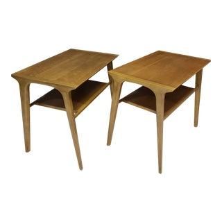 Mid Century Modern Pair of John Van Koert for Drexel Walnut Side End Tables