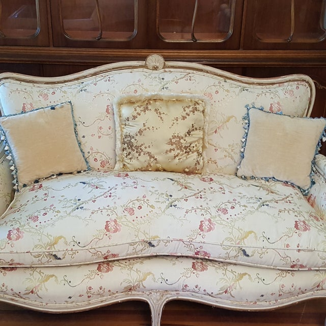 French 19th Century French Provincial Loveseat Settee For Sale - Image 3 of 10