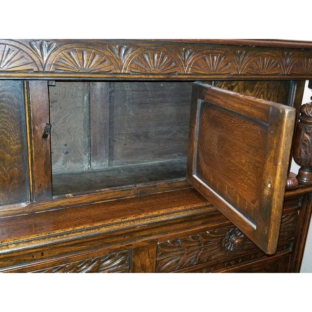 English Oak Renaissance Revival Cabinet For Sale - Image 10 of 13