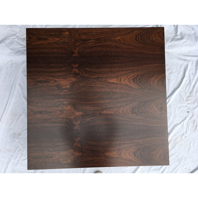 Milo Baughman Rosewood Top Mid-Century Coffee Table For Sale - Image 4 of 9