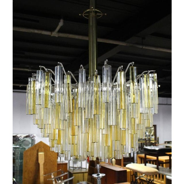 Very nice gold and clear good condition all glass prisms Camer light fixture.