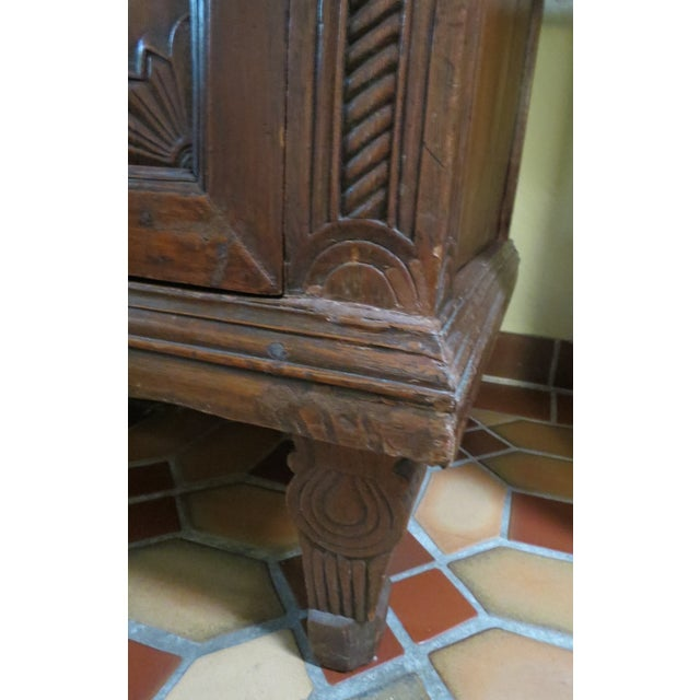Dutch Colonial Style Armoire For Sale - Image 5 of 7