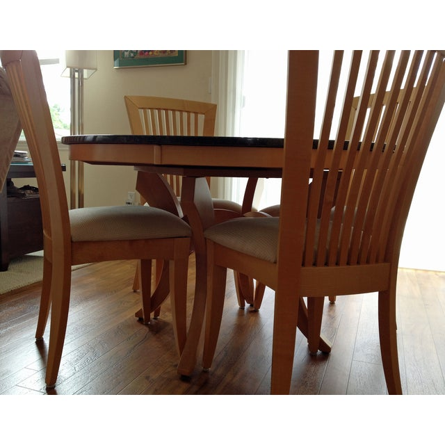 Granite-Top Dinette & 5 Side Chairs - Image 5 of 8