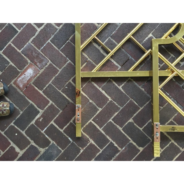 Chinese Chippendale Style Brass Queen Bedframe - Image 10 of 11
