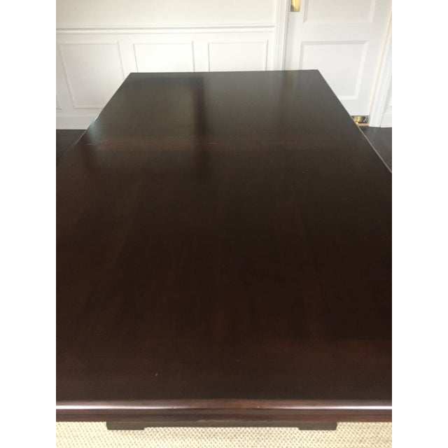 2010s Mahogany Finish Solid Dining Table For Sale - Image 5 of 8