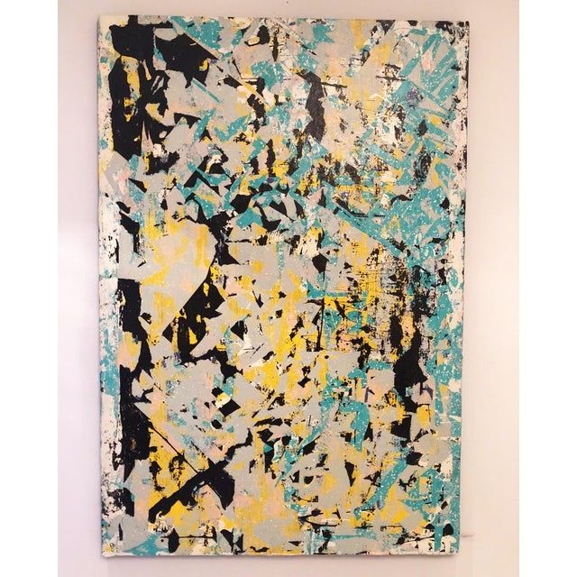 Untitled Abstract Acrylic Painting For Sale - Image 4 of 4
