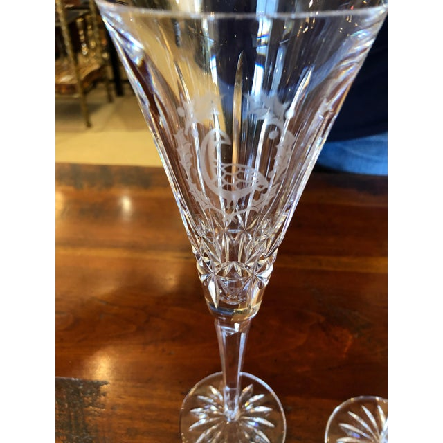 Waterford Crystal 12 Days of Christmas Champagne Flutes- 12 Pieces For Sale - Image 11 of 12