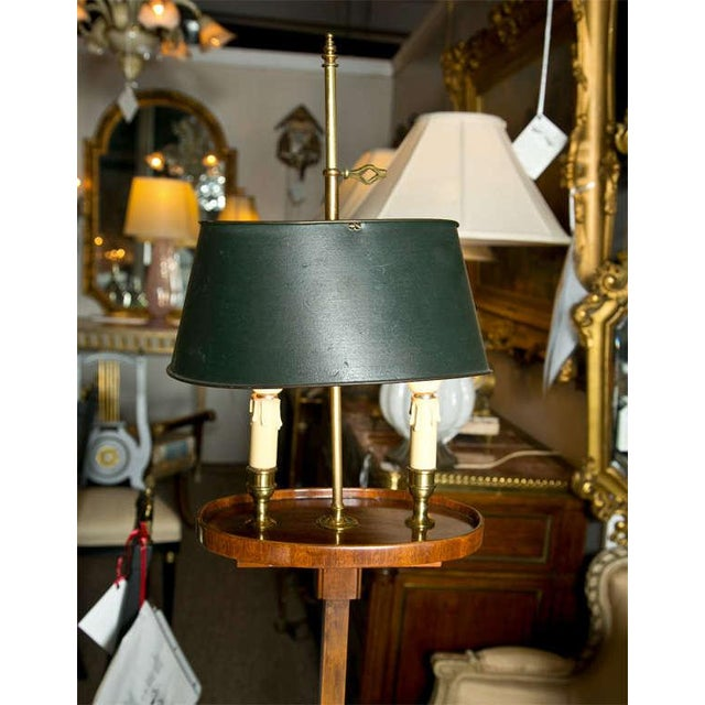 Mahogany Bouillotte Floor Lamp by Jansen - Image 3 of 7