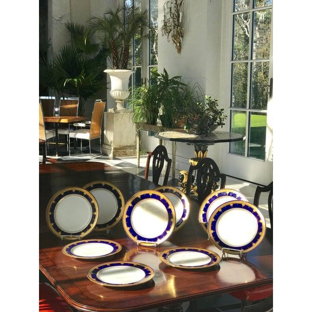 Cobalt Blue Dinner Plates - Set of 12 For Sale In Boston - Image 6 of 8