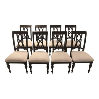 Modern Chippendale Style Dining Chairs- Set of 8 For Sale