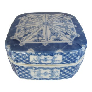 Vintage Blue & White Chinoiserie Box