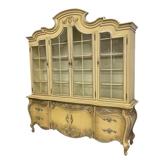French Rococo Style China Cabinet by Romweber For Sale