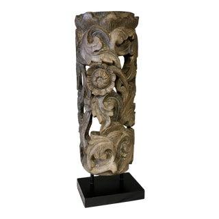 1990s Floral Totem Sculpture For Sale