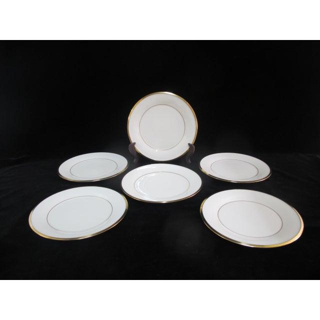 Lenox Ecru China Gold Rim Eternal Salad Plates - Set of 6 For Sale In Portland, OR - Image 6 of 6