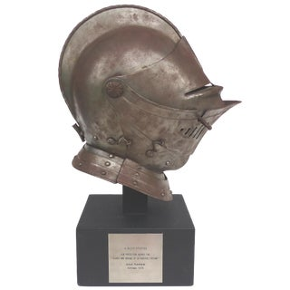 Antique Steel Jousting Presentation Helmut From Ibm Ceo Jacques Maisonrouge For Sale