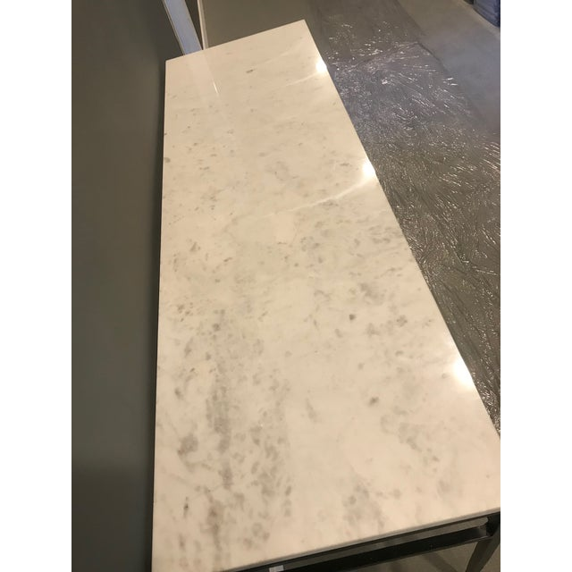 Modern Crate & Barrel Marble Console For Sale - Image 4 of 6