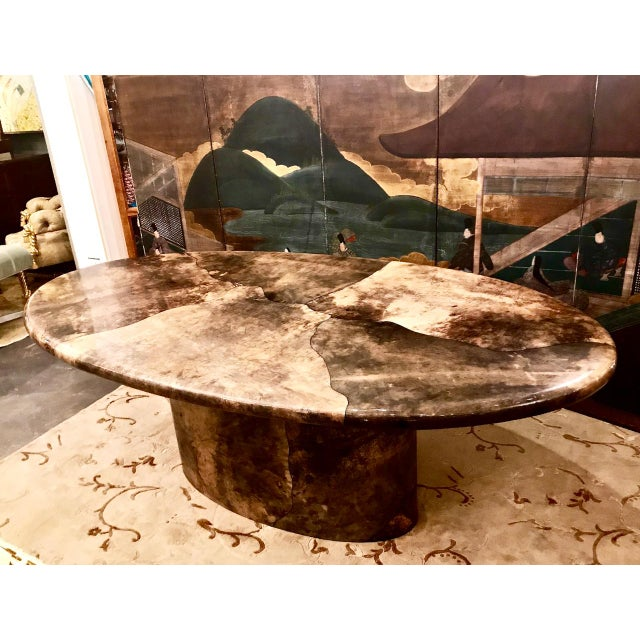 Aldo Tura Goat Skin Dining Table For Sale In Los Angeles - Image 6 of 6