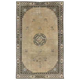 Antique Chinese Peking Rug with Art Deco Style For Sale