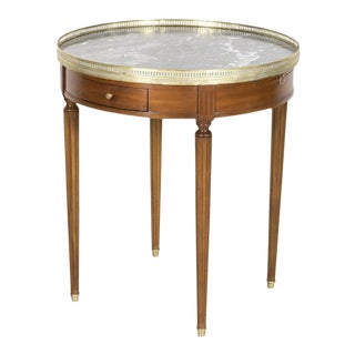 Early 20th Century French Louis XVI Style Mahogany Bouillotte Side Table For Sale