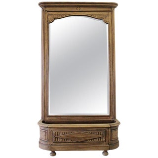 Early 20th Century Italian Trumeau Mirror With Planter Stand For Sale