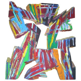 "Charles Arnoldi 'Chuck"" Acrylic Painting on Plywood/Wall Sculpture, Signed For Sale"