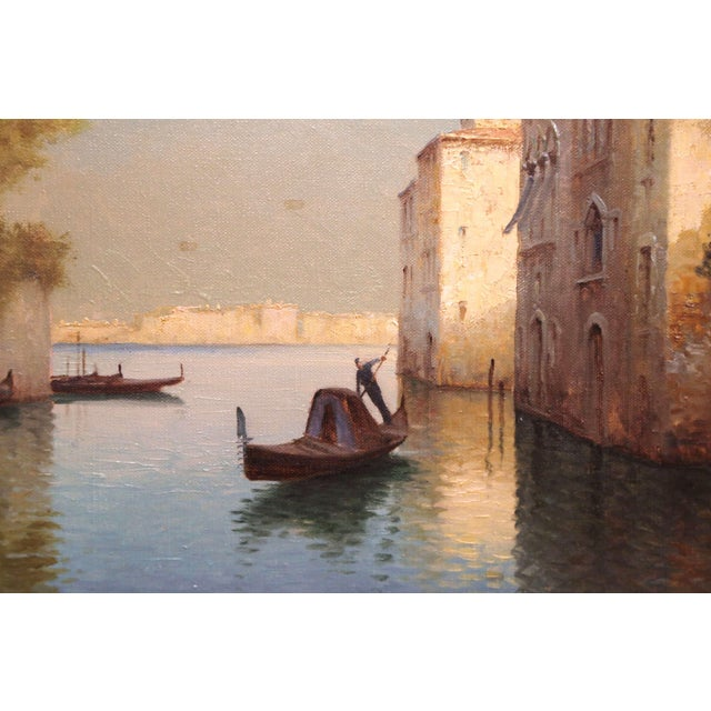Early 20th Century French Venice Framed Oil Painting Signed Alphonse Lecoz For Sale - Image 4 of 11