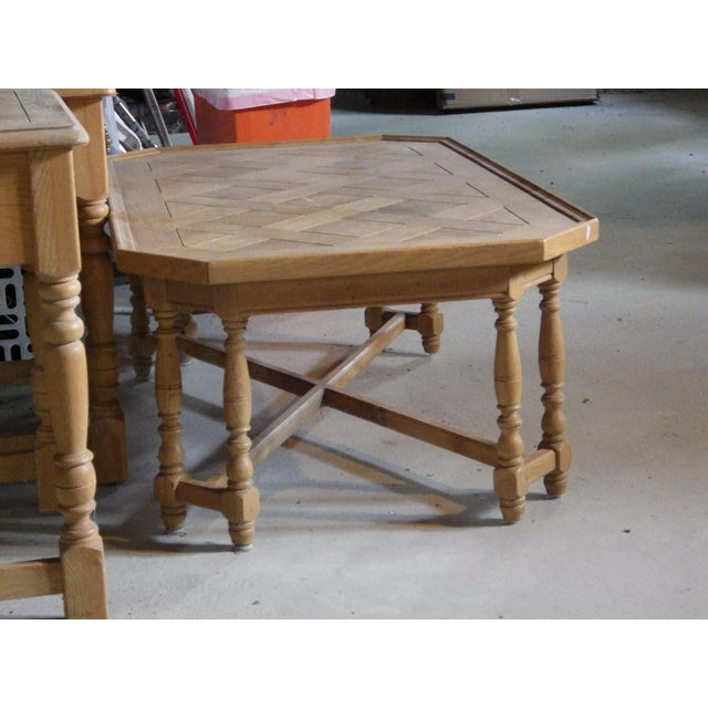 French Country Henredon Rustic Country Coffee Table For Sale - Image 3 of 11