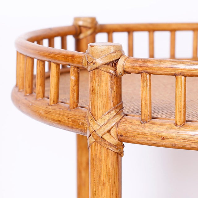 Mid 20th Century Midcentury British Colonial Style Stands or Carts - A Pair For Sale - Image 5 of 10