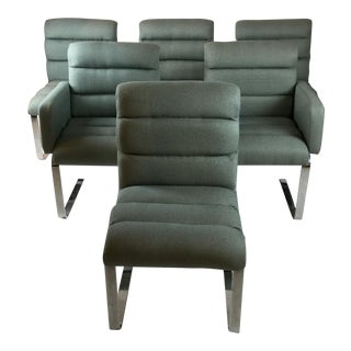 Pace Gray Tweed Dining Chairs - Set of 6