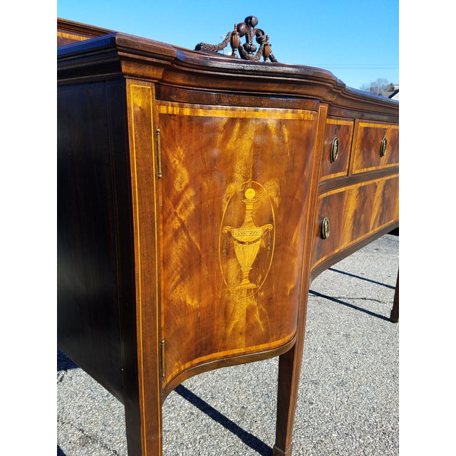 Early 20th Century Inlaid Georgian Sideboard For Sale - Image 5 of 12