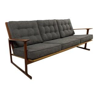 Mid-Century Modern Lb Kofod Larsen for Selig Lattice Back Sled Sofa