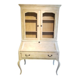 1980s French Country Henredon Secretary For Sale