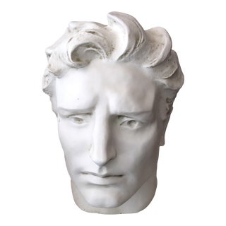 Modern White Finish Fiberglass Head Bust For Sale