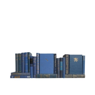 Midcentury Blue & Gold MIX - Set of Twenty Decorative Books