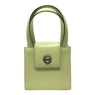 Contemporary Bulgari Box Leather Handbag For Sale