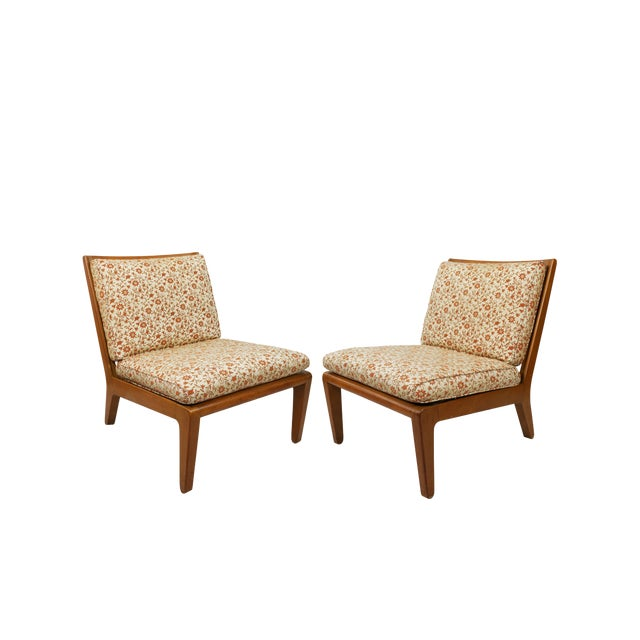 """Mid Century Edward Wormley Drexel """"Precedent"""" Slipper Chairs - a Pair For Sale"""