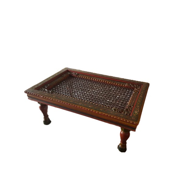 Handmade Wooden Carved Traditional Coffee Table - Image 4 of 4