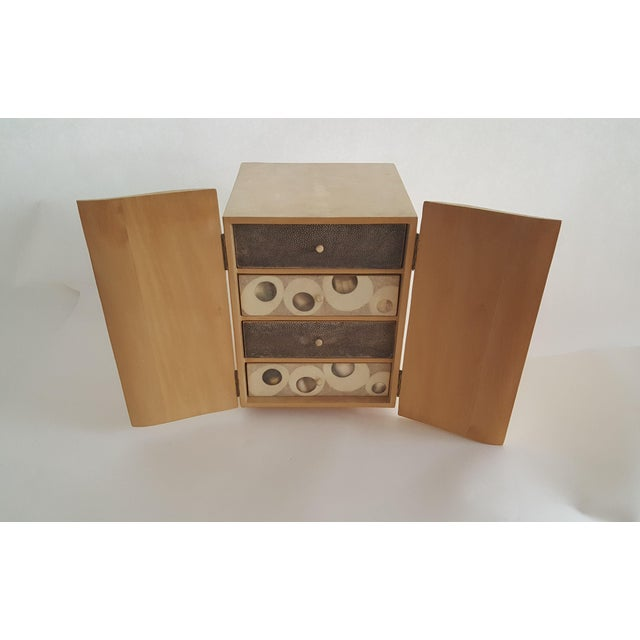 R & Y Augousti Wood & Shagreen Jewelry Box - Image 2 of 9