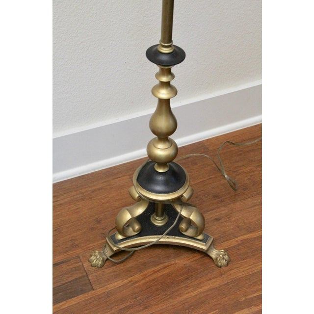 Brass decorative floor lamp chairish brass decorative floor lamp image 2 of 6 aloadofball Images
