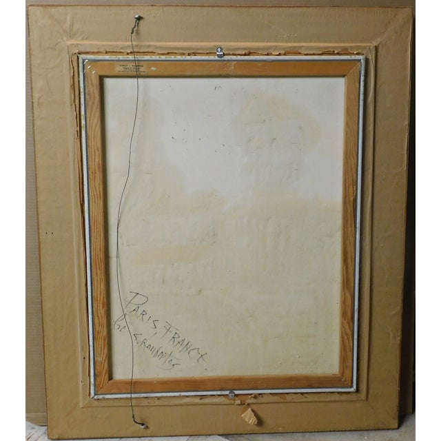 Traditional Vintage Mid-Century Stanley Raubertas Oil on Canvas Framed Painting For Sale - Image 3 of 4