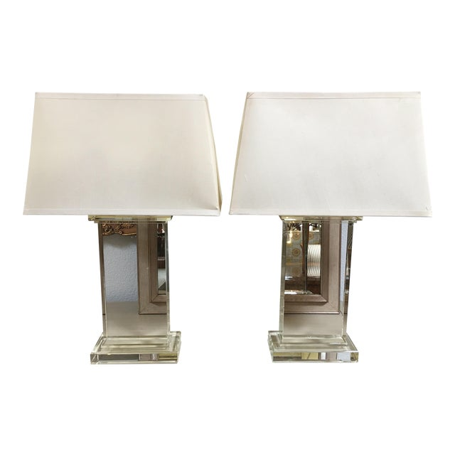 Restoration Hardware Crystal Pair Table Lamps - a Pair - Image 1 of 6