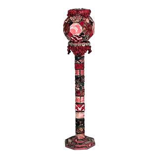 Victorian Upholstered Patchwork Pedestal For Sale