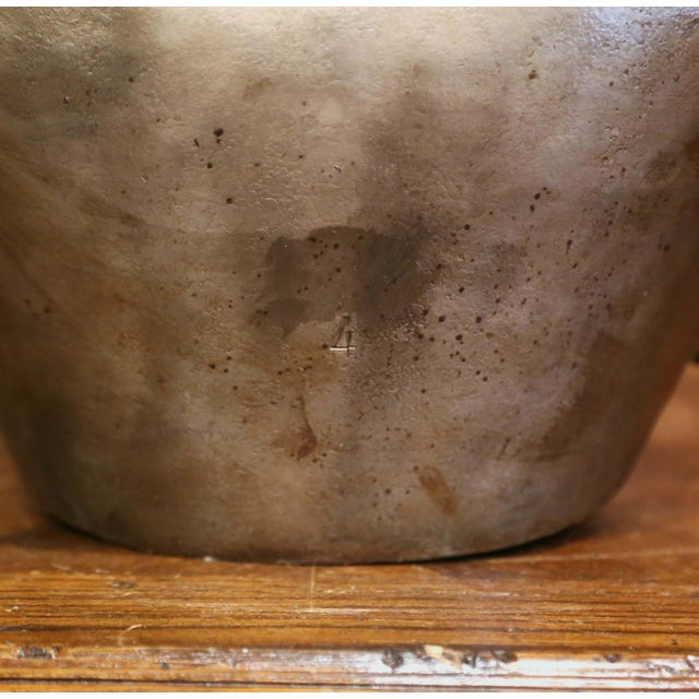 Bronze 19th Century French Iron Cow Bell With Original Leather Collar & Bronze Buckle For Sale - Image 8 of 12