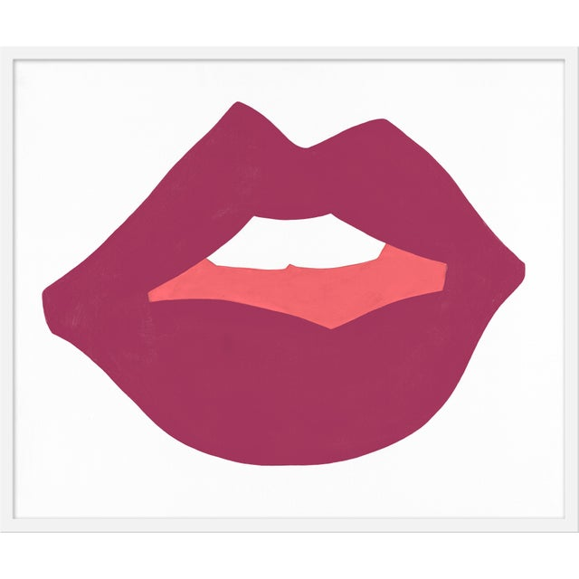 "Contemporary Medium ""Kiss Me (Mauve)"" Print by Angela Chrusciaki Blehm, 37"" X 31"" For Sale - Image 3 of 3"