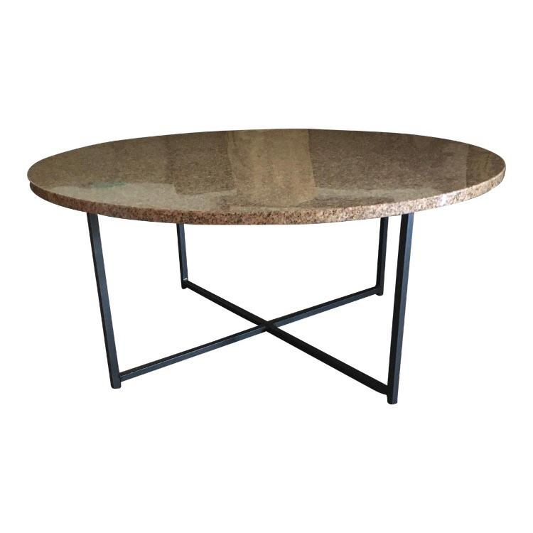2000   2009 Contemporary Room U0026 Board Classic Coffee Table With Granite Top  For Sale